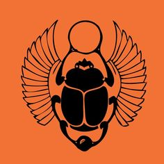 Vinyl Wall Decal Sticker Art - Egyptian Scarab Beetle - Halloween Decal