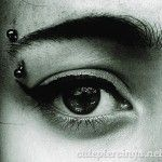 Cute eyebrow piercing - http://cutepiercings.net/cute-eyebrow-piercing/ #piercing #eyebrowpiercing #piercings
