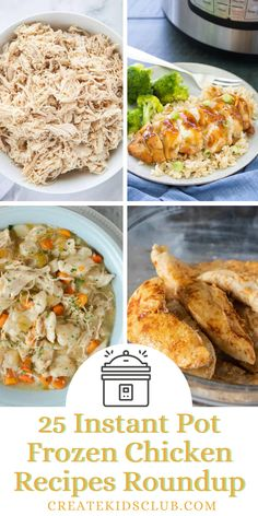 Cooking chicken from frozen is a lifesaver on busy nights. We've compiled 25 Instant pot recipes using frozen chicken helping you get dinner served quickly. Once you learn how to cook frozen chicken in the instant pot, your dinner routine will change for the better! Meal time is simplified without compromising the flavor of any recipe. Instant pot frozen chicken turns out tender and juicy every time. Best Meal Prep, Meal Prep For The Week, Instant Pot Pressure Cooker, Pressure Cooker Recipes, Good Healthy Recipes, Lunch Recipes, Frozen Chicken Recipes, Quick Easy Meals, Routine