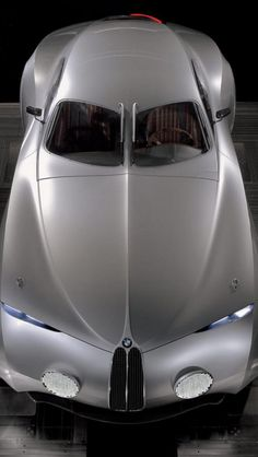 BMW Mille Miglia, Top View, Silvery, BMW, Car