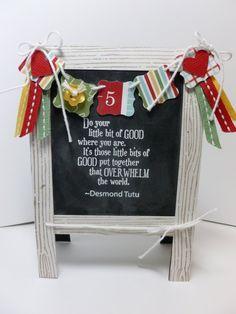 Chalkboard Easel handstamped card for Teacher