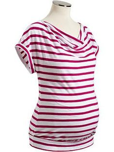 Maternity Striped Cowl-Neck Tops   Old Navy