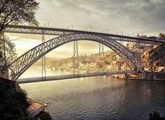 Bridge designed by Gustave Eiffel, Porto Porto City, Gustave Eiffel, Palace Garden, Beyond Beauty, Bridge Design, Douro, Spain And Portugal, Beautiful Buildings, Sydney Harbour Bridge