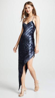 Mason by Michelle Mason Asymmetrical Velvet Bias Dress df2cdc57d281