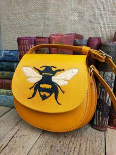 Bumblebee bag yellow leather bag ladies handbag leather