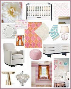 Sweet Pink and Orange Nursery Idea. bellevue and rose: a baby dress inspired nursery