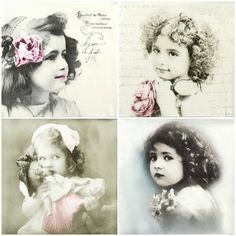4 x Single Luxury Paper Napkins for Decoupage and Craft Vintage Girls   eBay