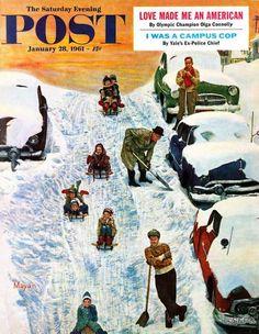 1961-01 The Saturday Evening Post 28 Mayan Olga Connolly Americana