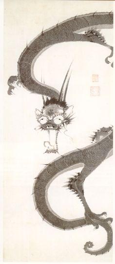 by Jyakuchu Ito (Japanese) 「雨龍図」