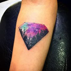 Cosmic Diamond Tattoo | TattoBlend