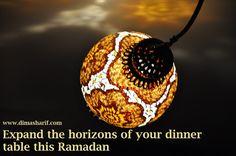 DIMA SHARIF: Ramadan Special 2013 - A Focus on Ramadan Culture & The Spirit of Ramadan Ramadan 2013, Happy Eid Mubarak, Dinner Table, Christmas Bulbs, Spirit, Culture, Holiday Decor, Food, Design