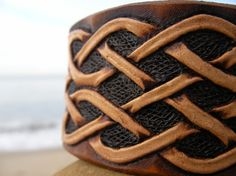 Cuff / Men  / Women / Leather, Cuff / Bracelet / Celtic / Custom / Hand Made /  Wristband / Hand Carved and Tooled / Norse / Tribal / Man