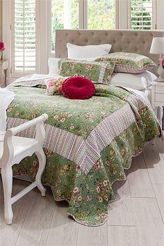 Buy Bedding Online at EziBuy | Bed linen includes sheet sets, duvet covers, blankets, quilts - Cassandre Bed Cover