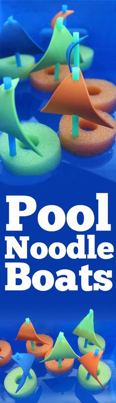 DIY Pool Noodle Boats- Super fun water activity for the kiddos this summer. Inex… DIY Pool Noodle Boats- Super fun water activity for the kiddos this summer. Water Activities, Summer Activities, Craft Activities, Camping Activities, Summer Camp Themes, Summer Games, Indoor Activities, Family Activities, Vbs Crafts