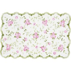 would work well with mint or pink colored walls - Sweet Rose Rug from PoshTots