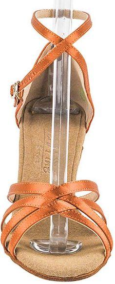 2d088a2fa21c Womens Ballroom Dance Shoes Tango Wedding Salsa Dance Shoes Dark Tan Satin  C1606EB Comfortable Very Fine 3 Heel 5 M US  Bundle of 5     Want to know  more