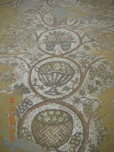 Byzantine mosaic floor from an early church