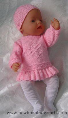 Baby Knitting Patterns … Baby Knitting Patterns … Source by sylviaulbrich Baby Knitting Patterns, Knitted Doll Patterns, Knitted Dolls, Knitting For Kids, Baby Patterns, Knitting Dolls Clothes, Crochet Doll Clothes, Doll Clothes Patterns, Baby Born Clothes