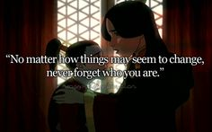 Zuko and Ursa; I actually used this in a fanfiction, and Zuko says something very similar to Azula...and I didn't remember this moment until I saw this picture here.
