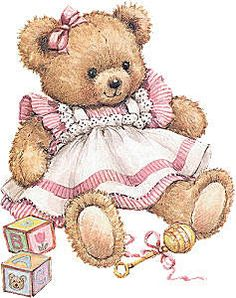 Teddy girl in a pink dress Illustration by Ruth Morehead Clipart Baby, Cute Clipart, Tatty Teddy, Teddy Bear Pictures, Bear Images, Baby Teddy Bear, Cute Teddy Bears, Teddy Girl, Photo Ours
