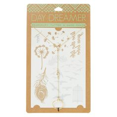 Daydreamer Temporary Tattoo & Hand Chain Set | Claire's