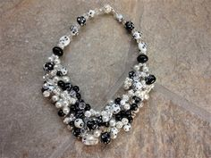 Black and White Alright Necklace - Media - Beading Daily