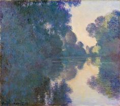 """https://www.facebook.com/Claude.Monet.MiaFeigelson.Gallery """"Morning on the Seine near Giverny"""" (1897) By Claude Monet, from Paris (1840 - 1926) - oil on canvas; 81.6 x 93 cm; 32 1/8 x 36 5/8 in - © The Metropolitan Museum of Art, New York Bequest of Julia W. Emmons, 1956 http://www.metmuseum.org/ https://www.facebook.com/metmuseum"""