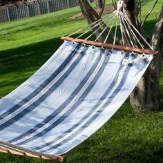 Hangit 11'FT Cotton Fabric Hammock Swing - Blue color stripe Hangit http://www.amazon.in/dp/B00PJY64CU/ref=cm_sw_r_pi_dp_8E0Svb1YMPEYQ