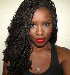 With kinky twist braids, you'll be able to obtain an elegant, fashionable and neat look. That is the coiffure that may make you stand out in a crowd. There are fabulous methods of styling your tw Senegalese Twist Hairstyles, Twist Braid Hairstyles, Crochet Braids Hairstyles, Braided Hairstyles For Black Women, My Hairstyle, Twist Braids, Braids For Black Women, African Hairstyles, Afro Hairstyles