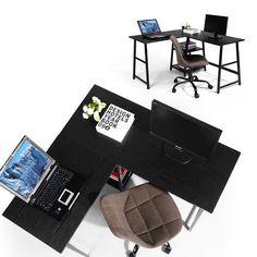 Shop Black Friday Deals on Carbon Loft Angband L-shaped Corner Computer Desk with Shelf - Overstock - 29204463 Computer Desk With Shelves, Bookshelf Desk, Office Furniture Stores, Furniture Deals, L Shaped Executive Desk, Space Saving Desk, Large Desk, L Shaped Desk, Office Essentials