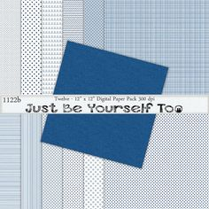 Instant Download 12 x 12 Inch Distressed Blue by JustBYourself2, $3.00 (1122b)