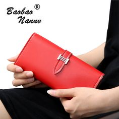 2017 Fashion Wallets Women Luxury Long Wallets Lady PU Leather Belt Purse Card Holders Clutch Money Bag for Carteira Feminina #Affiliate