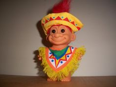 troll dolls   Russ Troll Mexican Colorful Sombrero Poncho Collectible Troll Doll ...