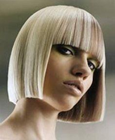 one length hair cuts One Length Haircuts, One Length Bobs, Above The Shoulder Haircuts, Medium Hair Styles, Short Hair Styles, Bob Haircut With Bangs, Blunt Haircut, Blunt Bangs, New Hair Look