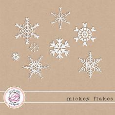 """Mickey Flakes"" blog freebie from Britt-ish Designs"