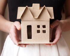 Paper Mache House Shaped Box