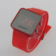 YKS Hot Fashion Color Storm Men Women Mirror LED Silicone Band Digital Watch by YKS. $4.75. With LED display screen. This watch is designed with stylish and exquisite appearance. Silicone strap design, it is soft and comfortable to wear. Designed with glass mirror surface, it can be used as mirror. Features:  100% brand new and high quality   This watch is designed with stylish and exquisite appearance  Designed with glass mirror surface, it can be used as mirror ...