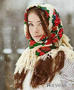 девушка русские платки - Поиск в Google