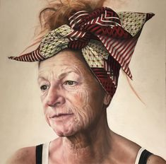 """Melodie Cook  """"Maria V""""  Pastel on board 100x100cm"""