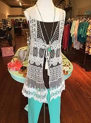 Ivory Lace & Crochet Vest