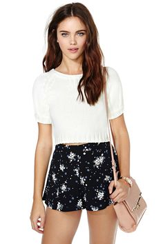 Nasty Gal Sweet Sundays Crop Top | Shop Sweaters at Nasty Gal