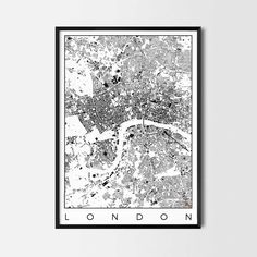 London Map Poster -Art posters and map prints of your favorite city. Unique design of a map. Perfect for your house and office or as a gift.