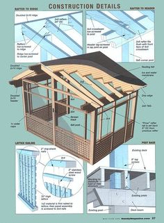 How to Create a Screened Porch out of a Deck   Screened Sactuary, Handy - Handyman Club of America Magazine   In The News   Screen Tight by elisa