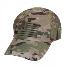 cee430bc08b The tactical cap features an embroidered U.S Flag and features 4 reinforced  air vent holes