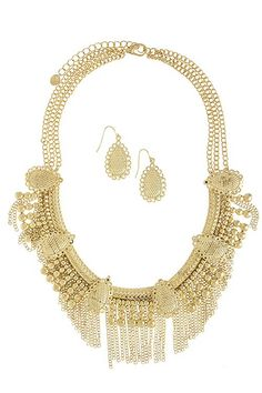 gold statement chain necklace available soon www.lulu-le.com