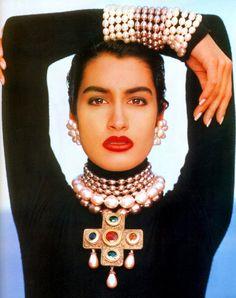 Chanel, Fall/Winter 1990. Photographer: Karl Lagerfeld. Model: Yasmeen Ghauri.