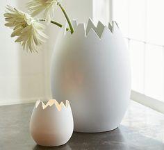White Eggshell Vase