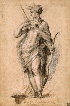 Nicolò dell' Abate | Apollo, Standing, with Bow and Arrow | ca. 1550 | The Morgan Library & Museum