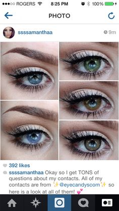 ... on Pinterest | Color Contacts, Colored Contacts and Circle Lenses