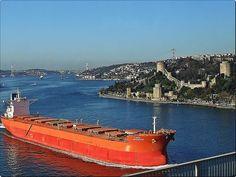Heavy traffic in Bosphorus